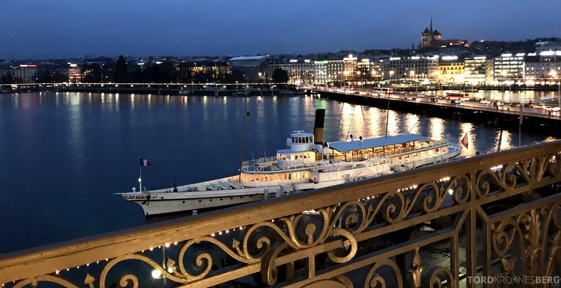 Ritz-Carlton Hotel de la Paix Genève utsikt mørket