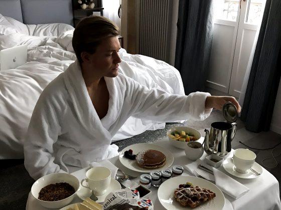 Ritz-Carlton Hotel de la Paix Genève Tord Kroknes Berg frokost