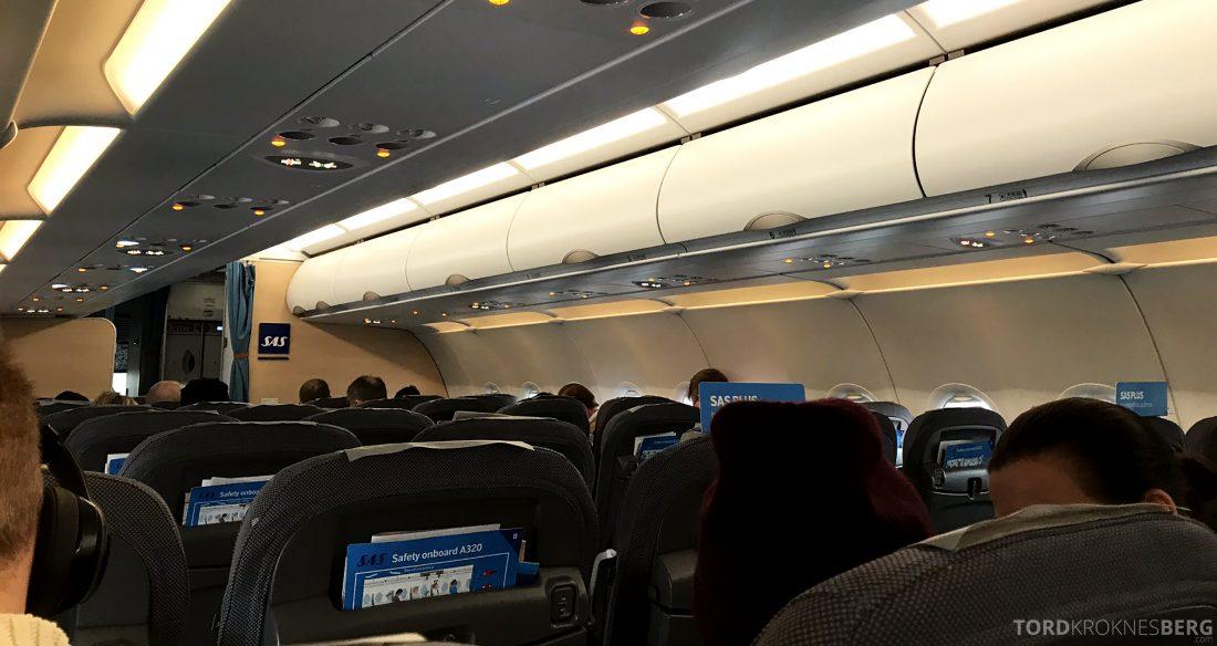 SAS Go A320neo Stockholm Genevé kabin
