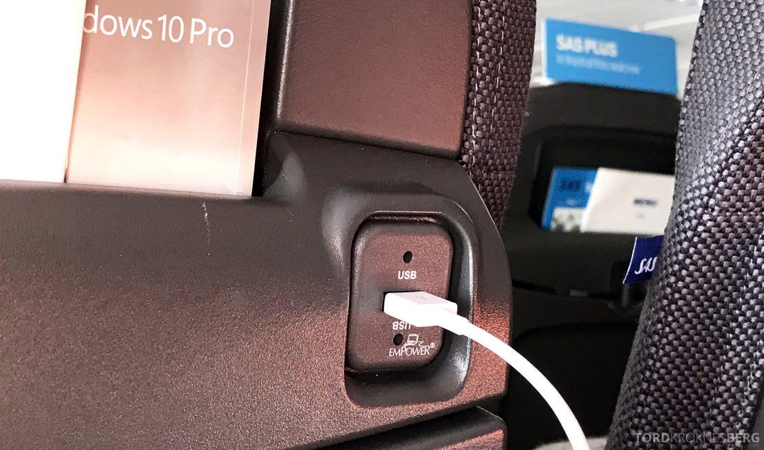 SAS Go A320neo Stockholm Genevé USB