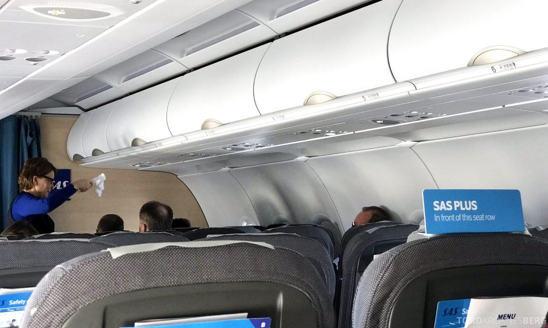 SAS Go A320neo Stockholm Genevé servering