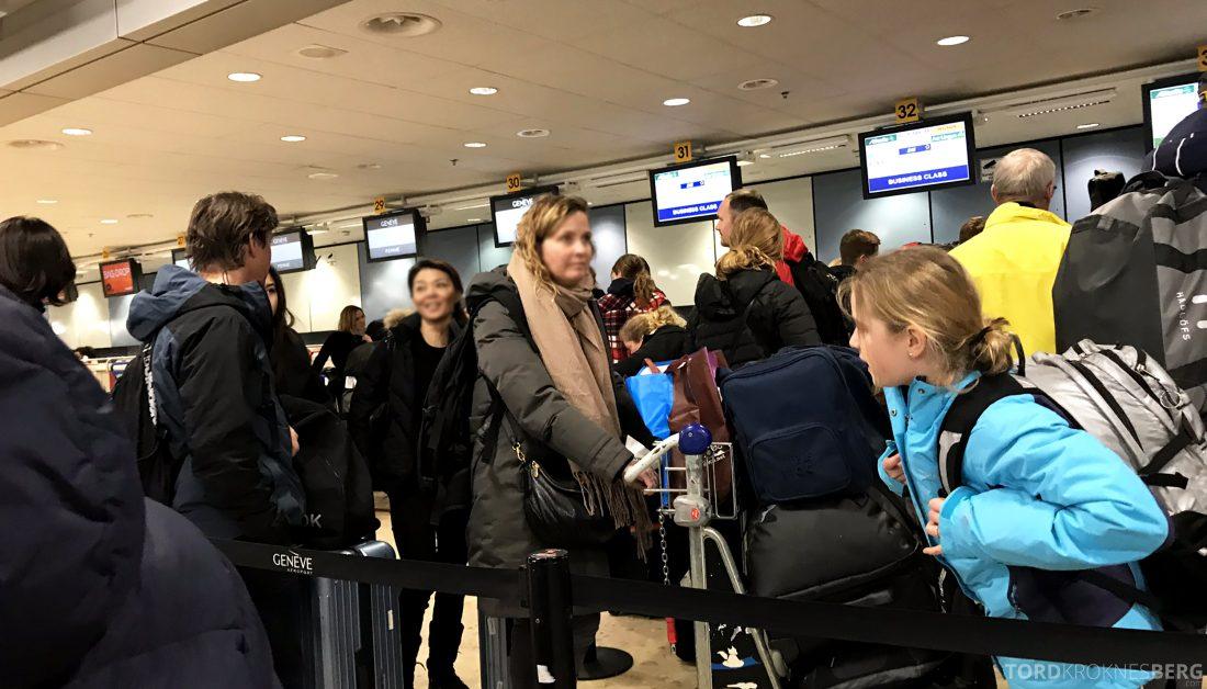SAS JetTime Geneva Oslo innsjekk