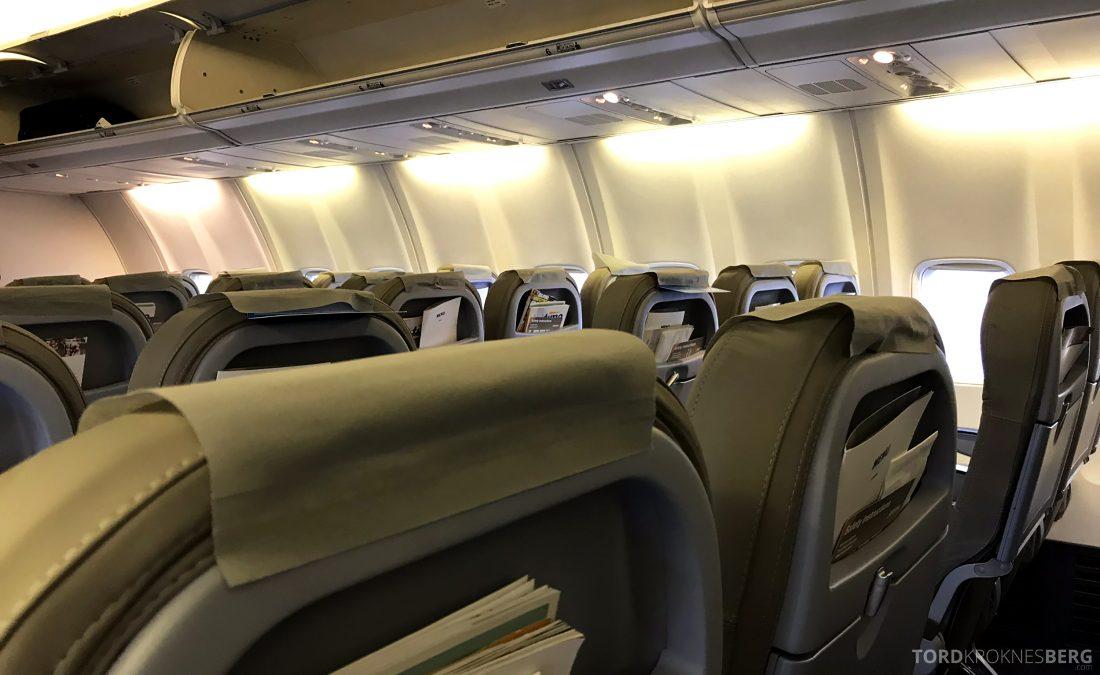SAS JetTime Geneva Oslo kabin