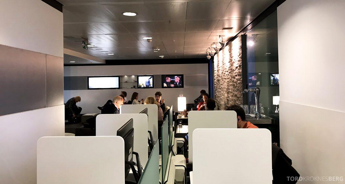 SWISS Senator Lounge Geneva kontorkrok