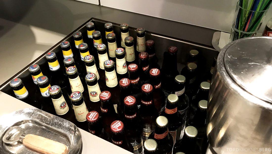 SWISS Senator Lounge Geneva øl
