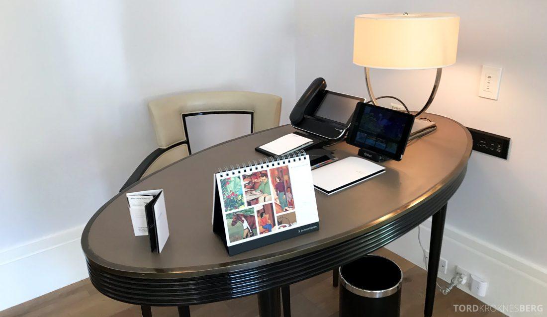 Hotel Bel-Air Los Angeles skrivebord