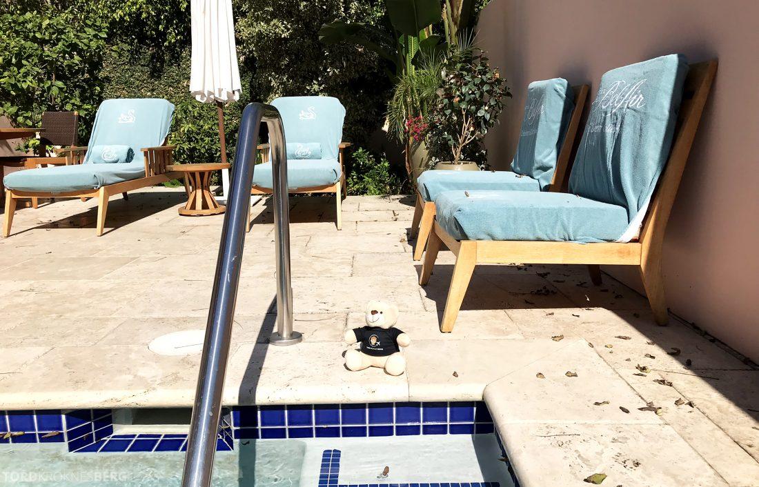 Hotel Bel-Air Los Angeles reisefølget jacuzzi