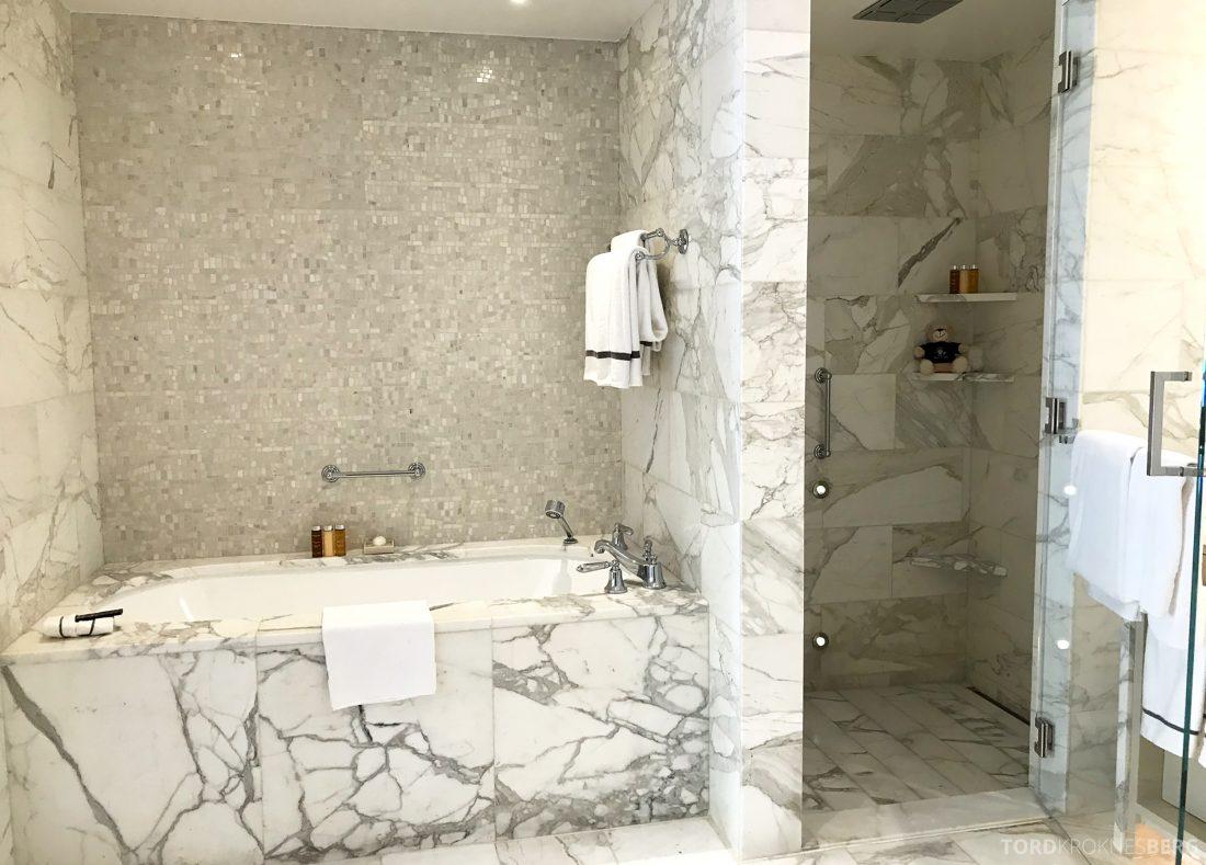 Hotel Bel-Air Los Angeles badekar og dusj