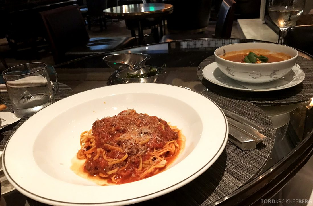 Hotel Bel-Air Los Angeles pasta bolognese