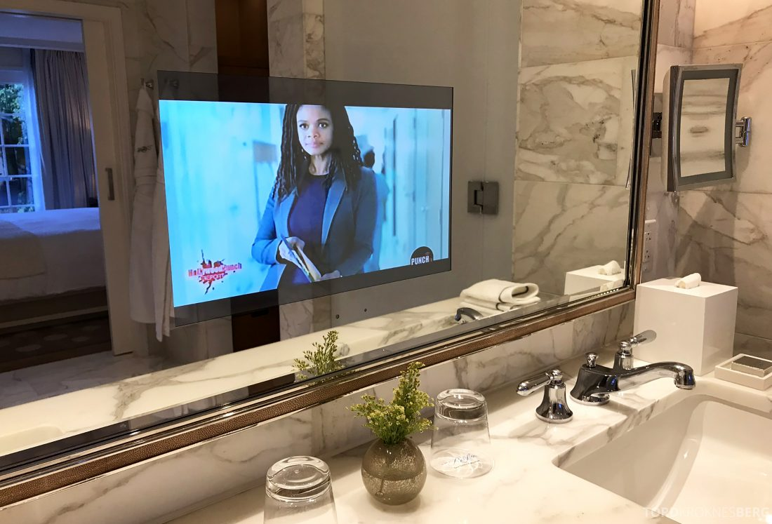 Hotel Bel-Air Los Angeles fjernsyn speil