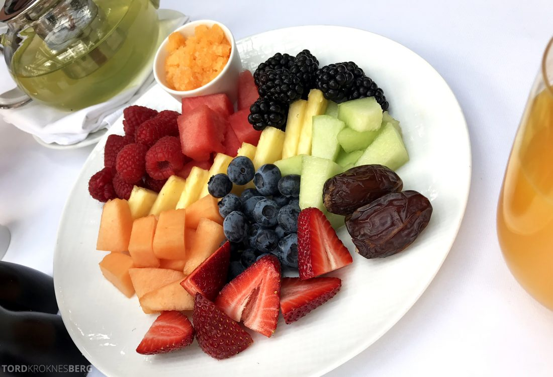 Hotel Bel-Air Los Angeles frokost frukt