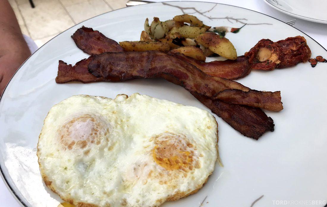 Hotel Bel-Air Los Angeles egg og bacon