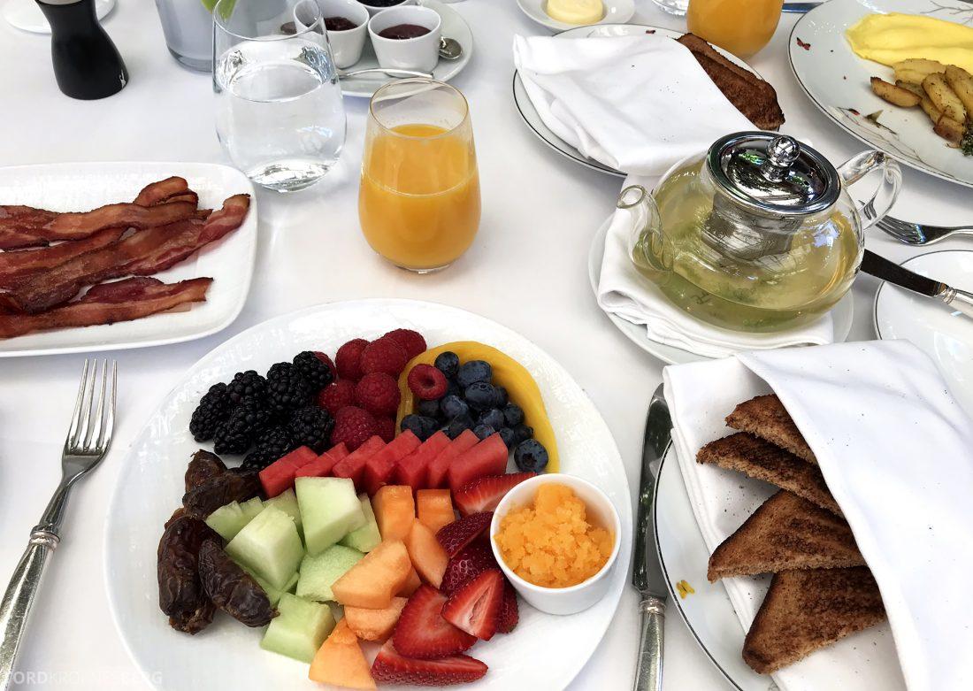 Hotel Bel-Air Los Angeles frokostbord