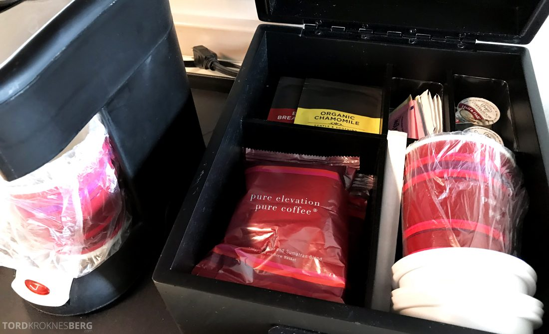 Marriott Hotel LAX Los Angeles kaffemaskin