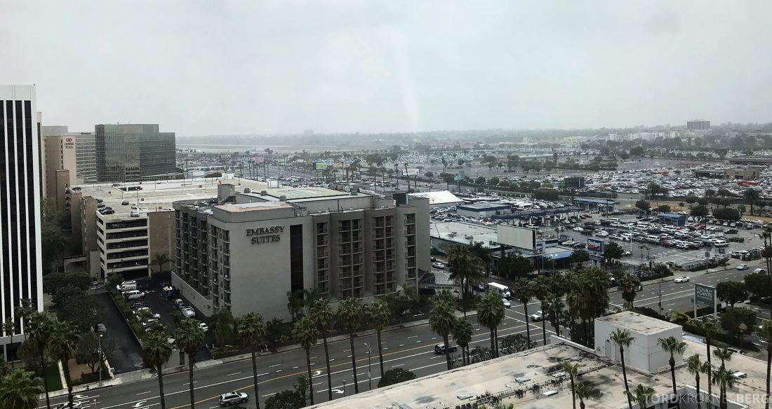 Marriott Hotel LAX Los Angeles Club Lounge utsikt