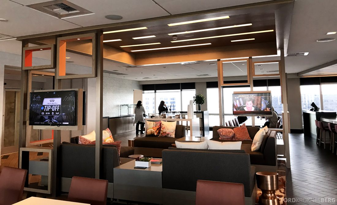 Marriott Hotel LAX Los Angeles Club Lounge interiør