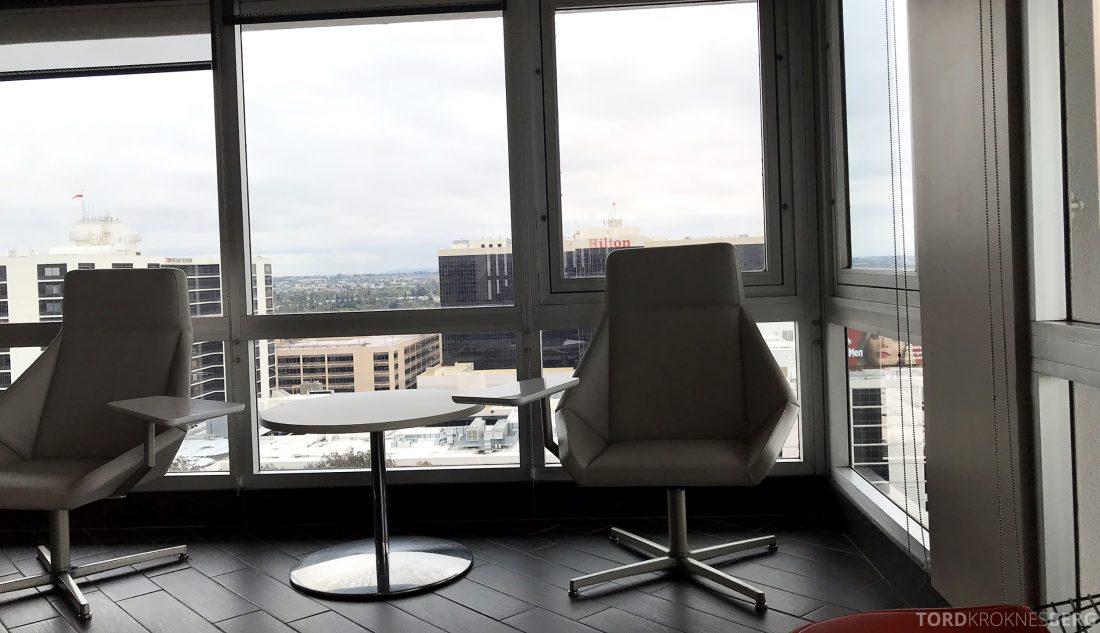 Marriott Hotel LAX Los Angeles Club Lounge stol utsikt