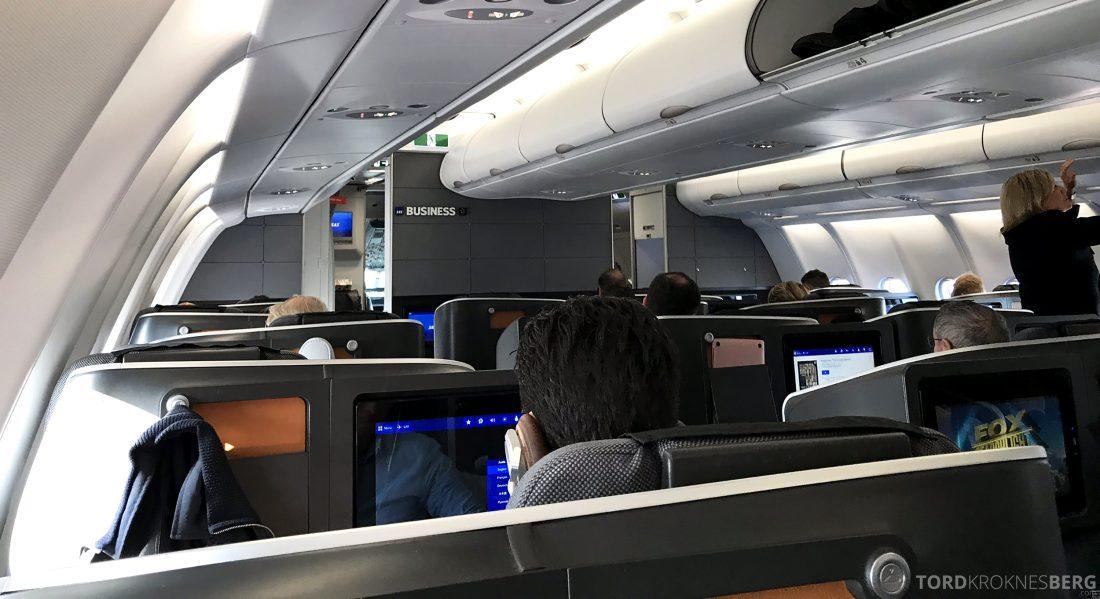 SAS Business Class Oslo Los Angeles kabin