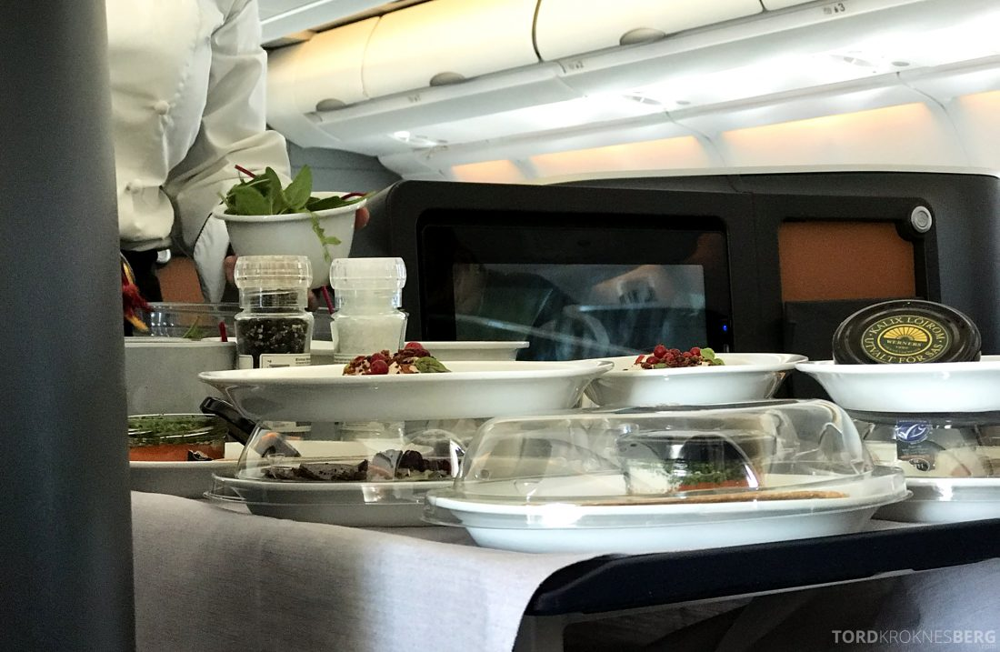 SAS Business Class Oslo Los Angeles forrett tralle