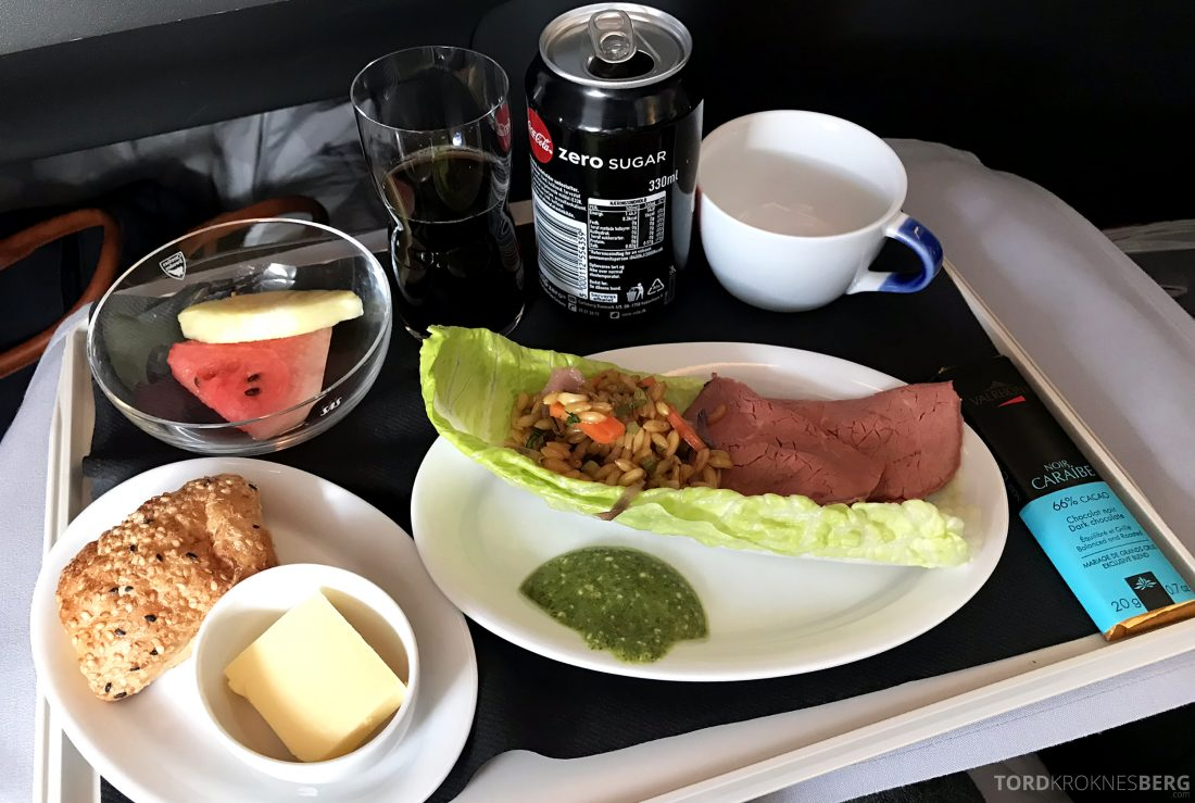 SAS Business Class Oslo Los Angeles lunch
