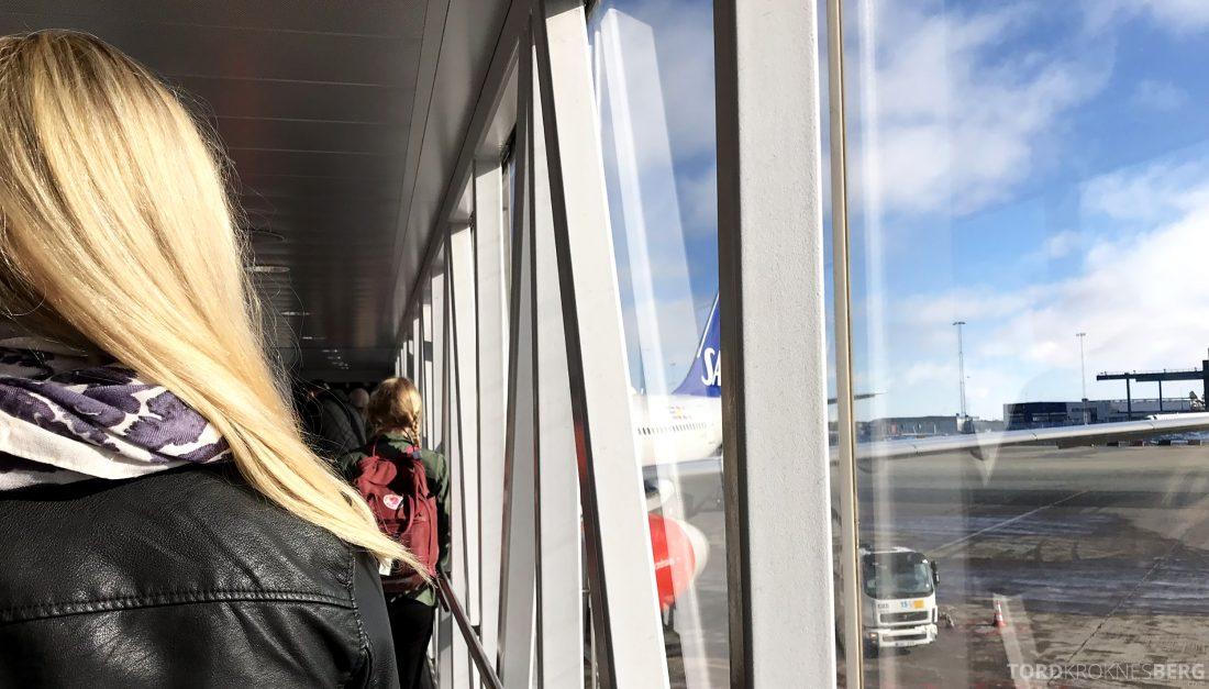 SAS Business Class Oslo Los Angeles bro