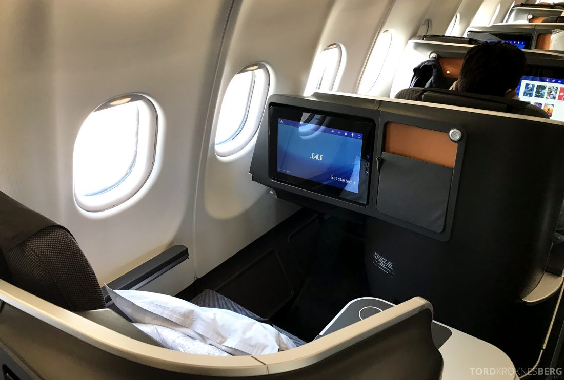 SAS Business Class Oslo Los Angeles sete