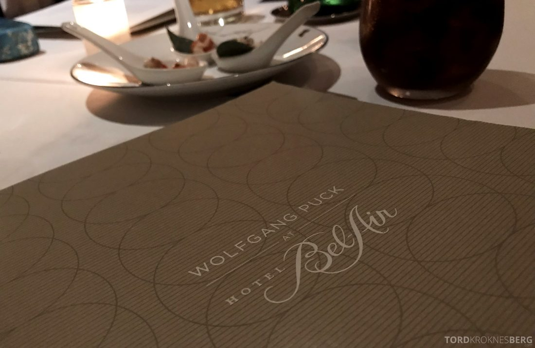 Wolfgang Puck Restaurant Bel-Air Hotel Los Angeles meny