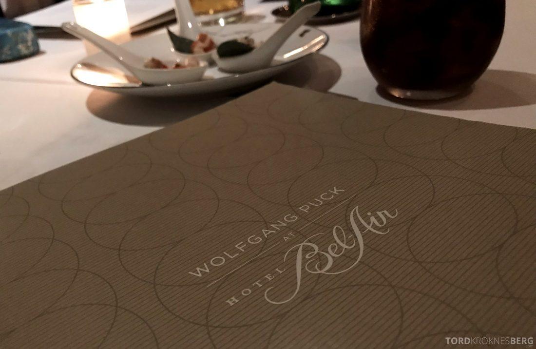 Wolfgang Puck Restaurant Bel-Air Hotel Los Angeles meny
