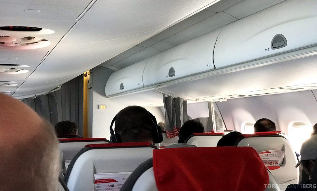 Austrian Economy Class Oslo Venezia kabin