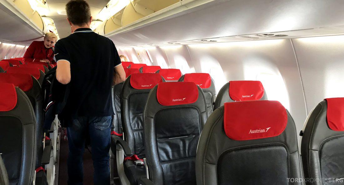 Austrian Economy Class Oslo Venezia fly