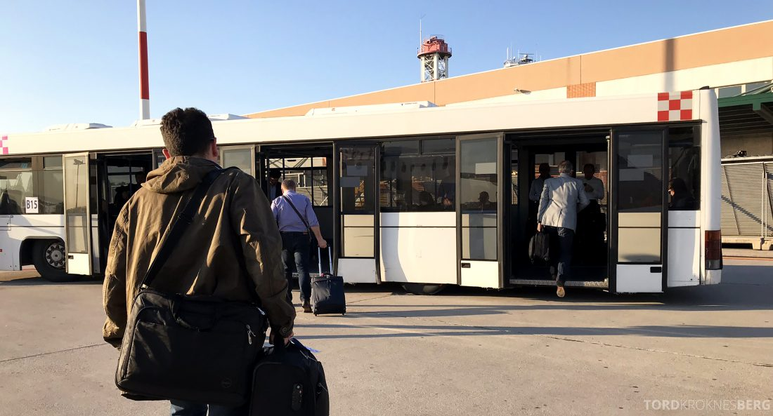 Austrian Economy Class Oslo Venezia buss Italia