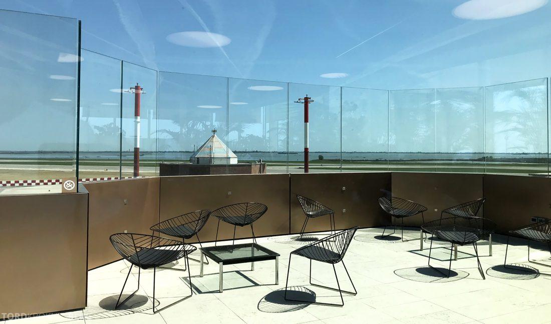 Marco Polo Lounge Venezia utendørs terrasse
