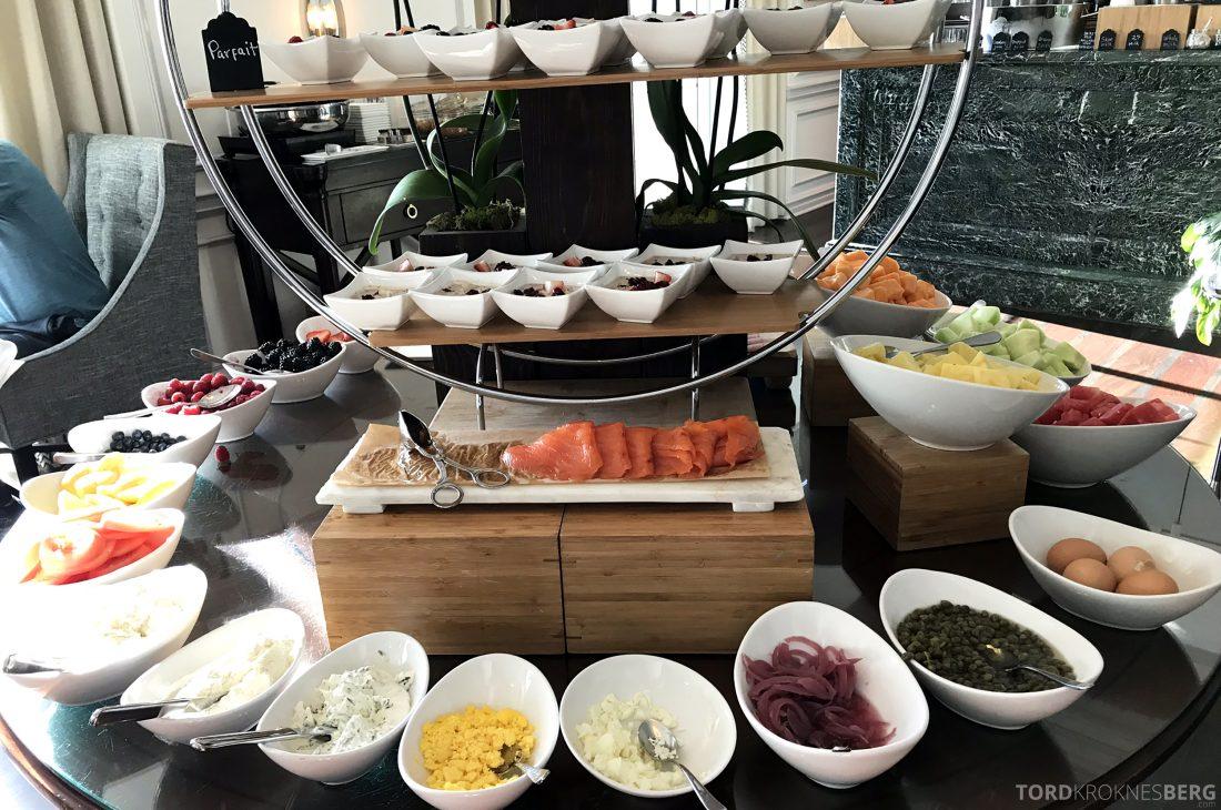 Ritz-Carlton Marina del Rey Los Angeles Hotel Club Lounge frokostbuffet