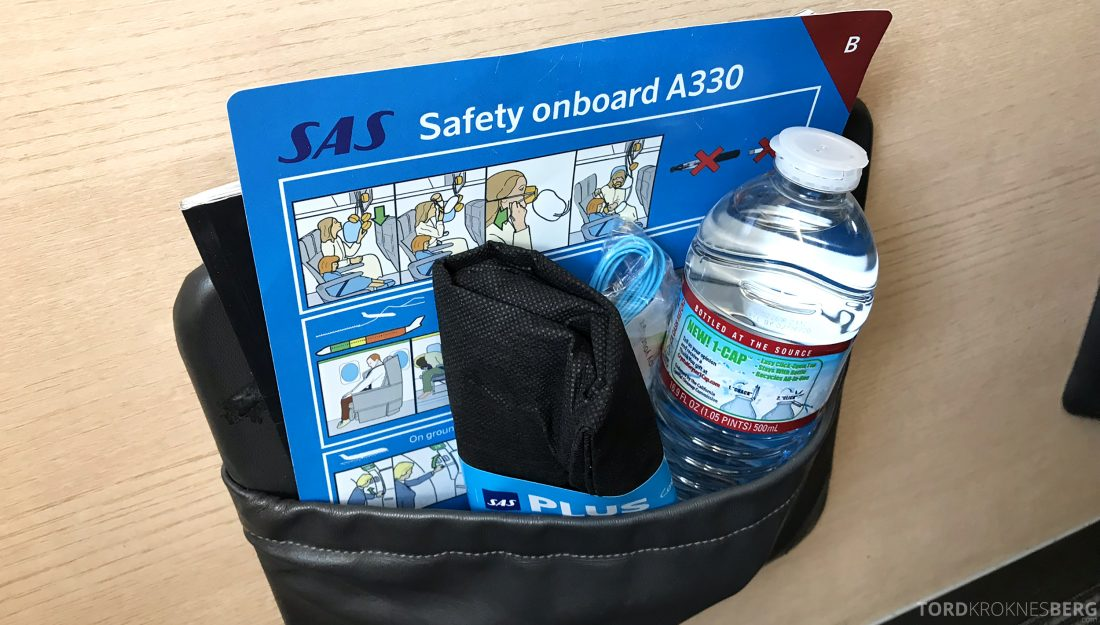 SAS Plus Los Angeles Stockholm amenity kit