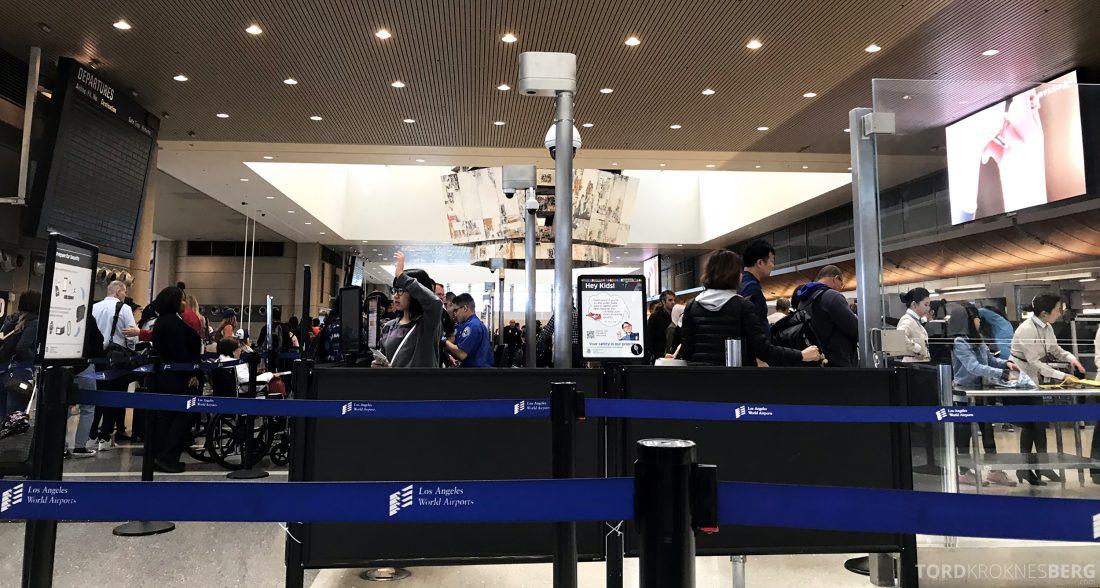 SAS Plus Los Angeles Stockholm sikkerhetskontroll