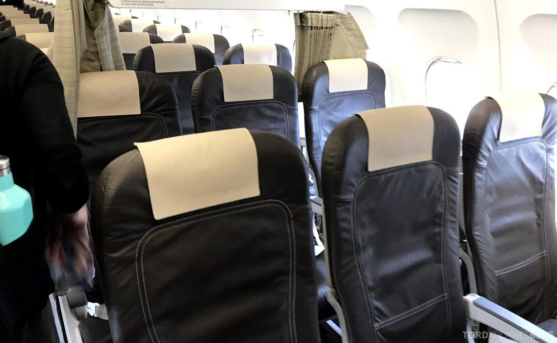 SWISS Business Class Venezia Zürich Oslo kabin