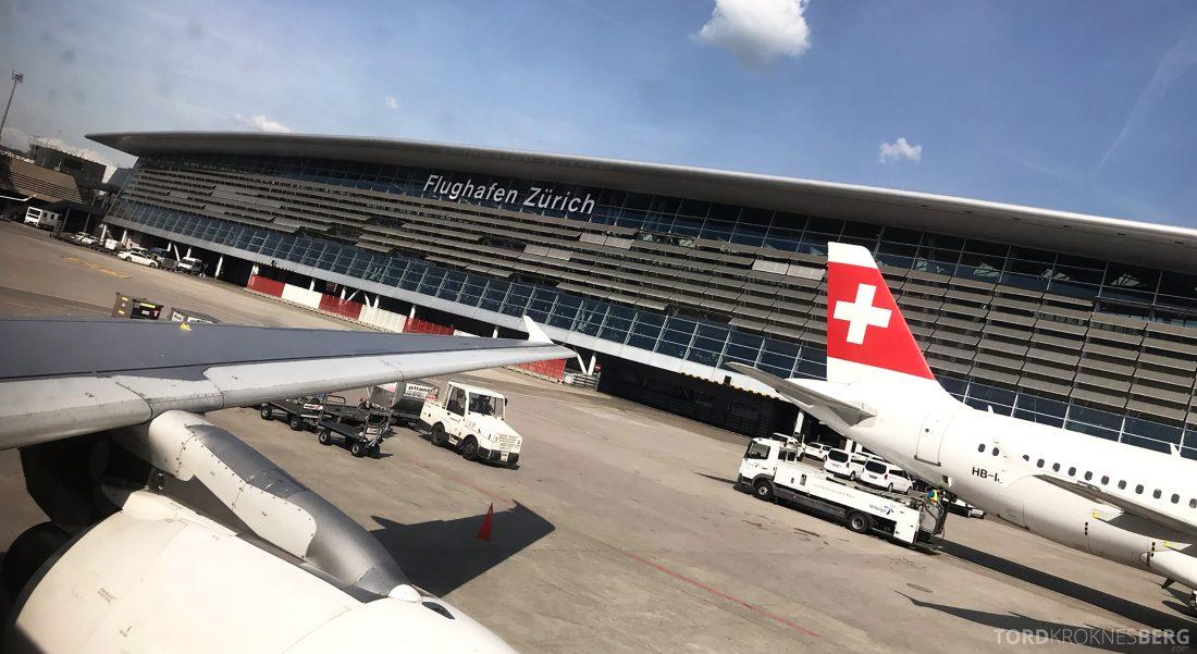 SWISS Business Class Venezia Zürich Oslo lufthavn