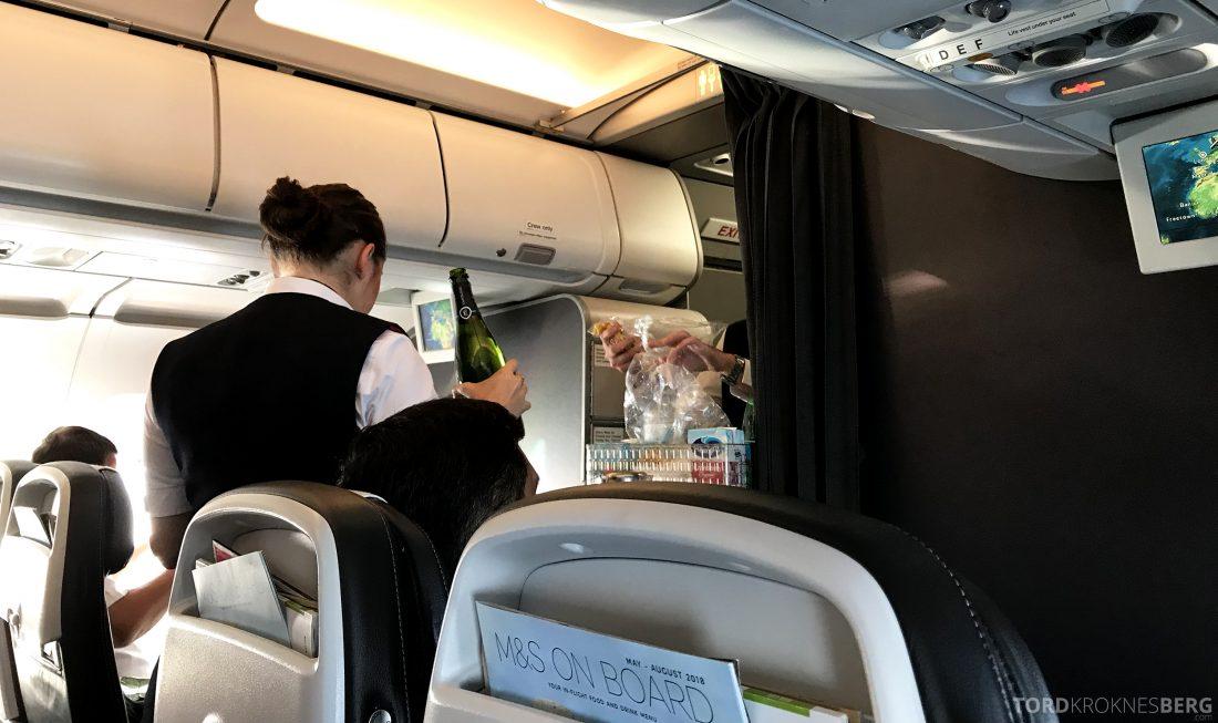 British Airways Business Class Oslo London servering