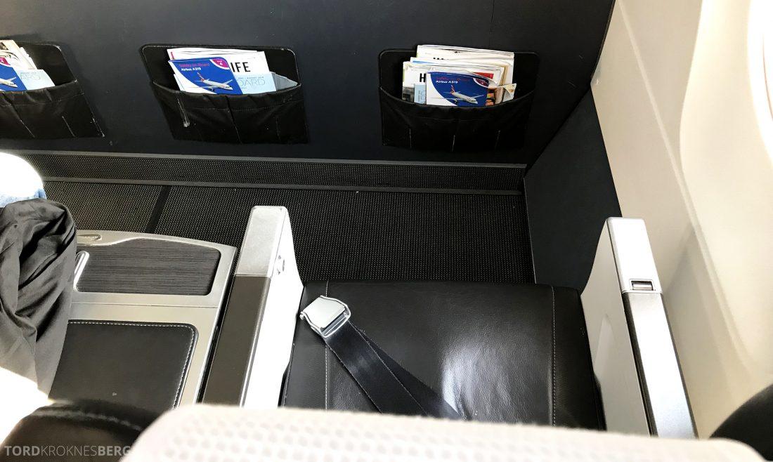 British Airways Business Class Oslo London første rad