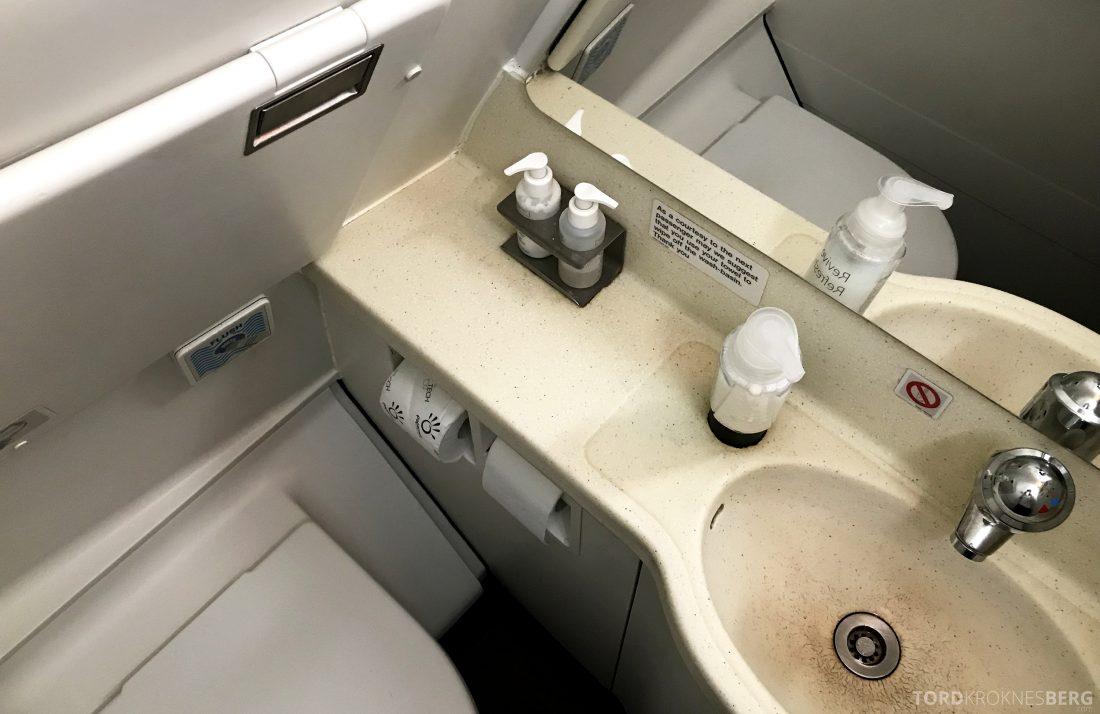 British Airways Business Class Oslo London toalett