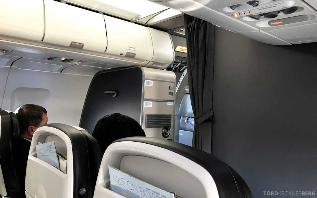 British Airways Business Class Oslo London kabin