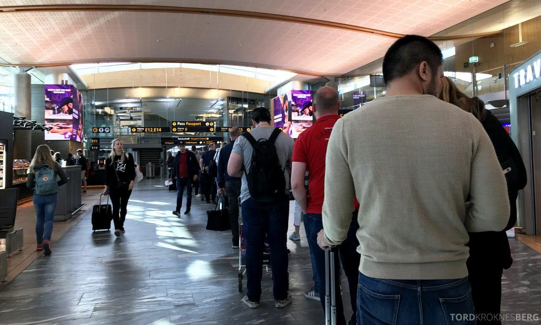 British Airways Business Class Oslo London passkø