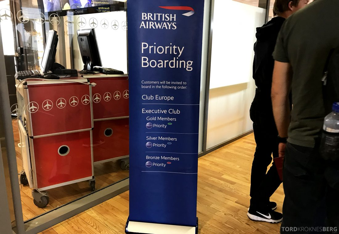 British Airways Business Class Oslo London boarding