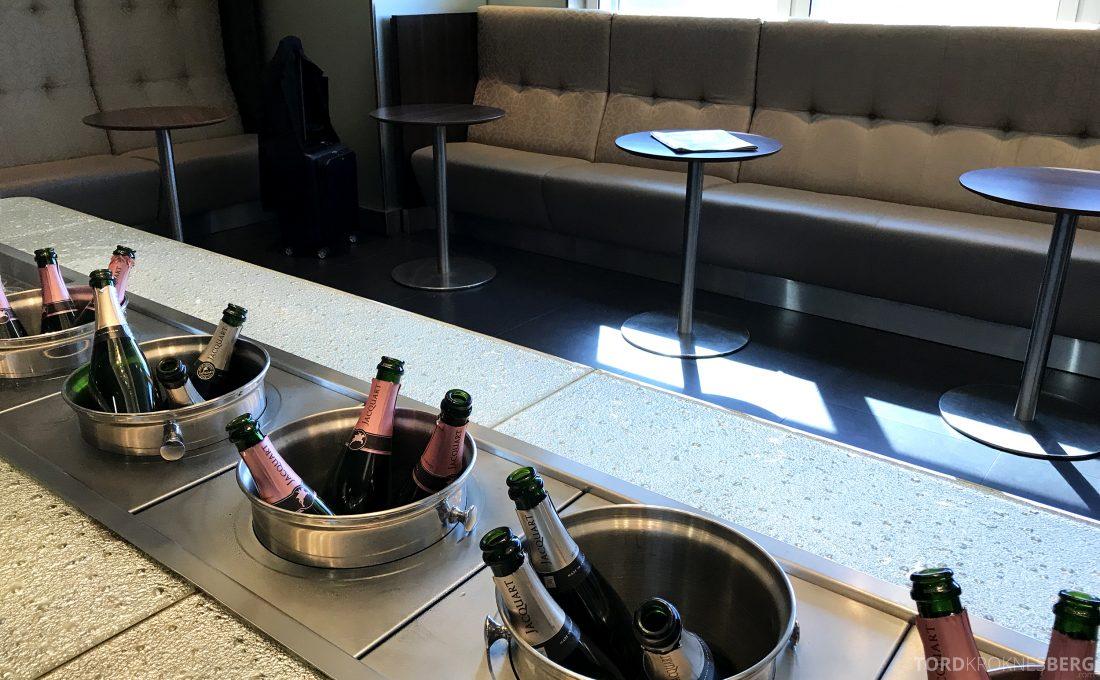 British Airways Galleries First Lounge Heathrow champagne