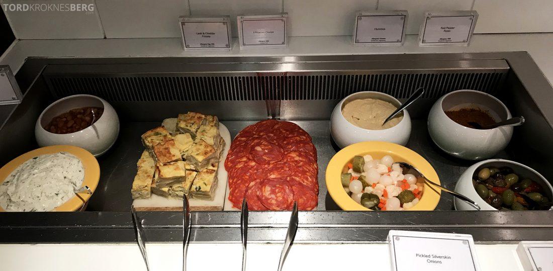 British Airways Galleries First Lounge Heathrow buffet