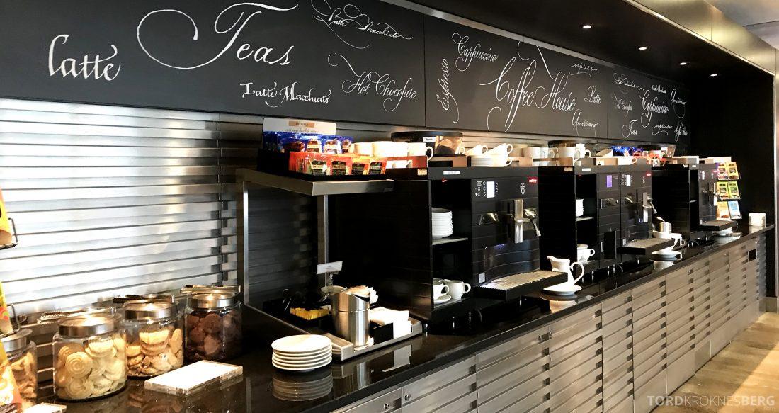 British Airways Galleries First Lounge Heathrow kaffe og te