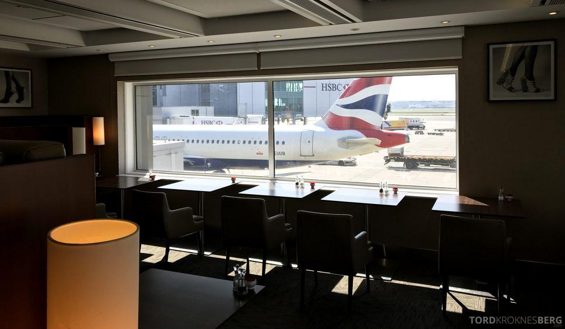 British Airways Galleries First Lounge Heathrow dining room