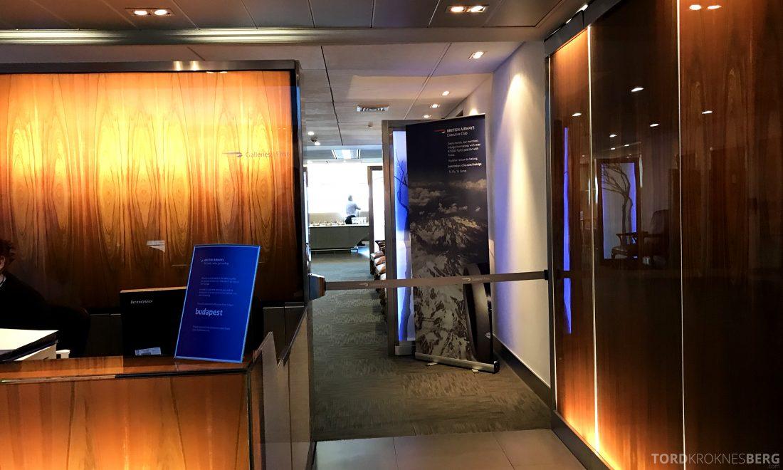 British Airways Galleries First Lounge Heathrow inngang
