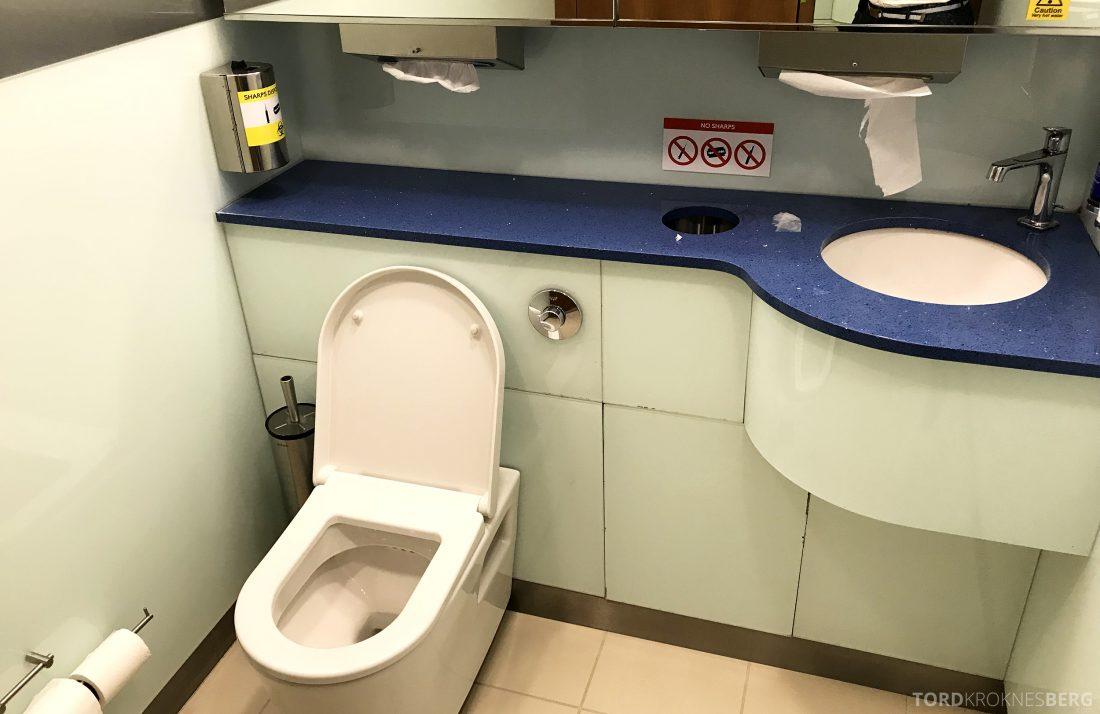 British Airways Galleries First Lounge Heathrow toalett