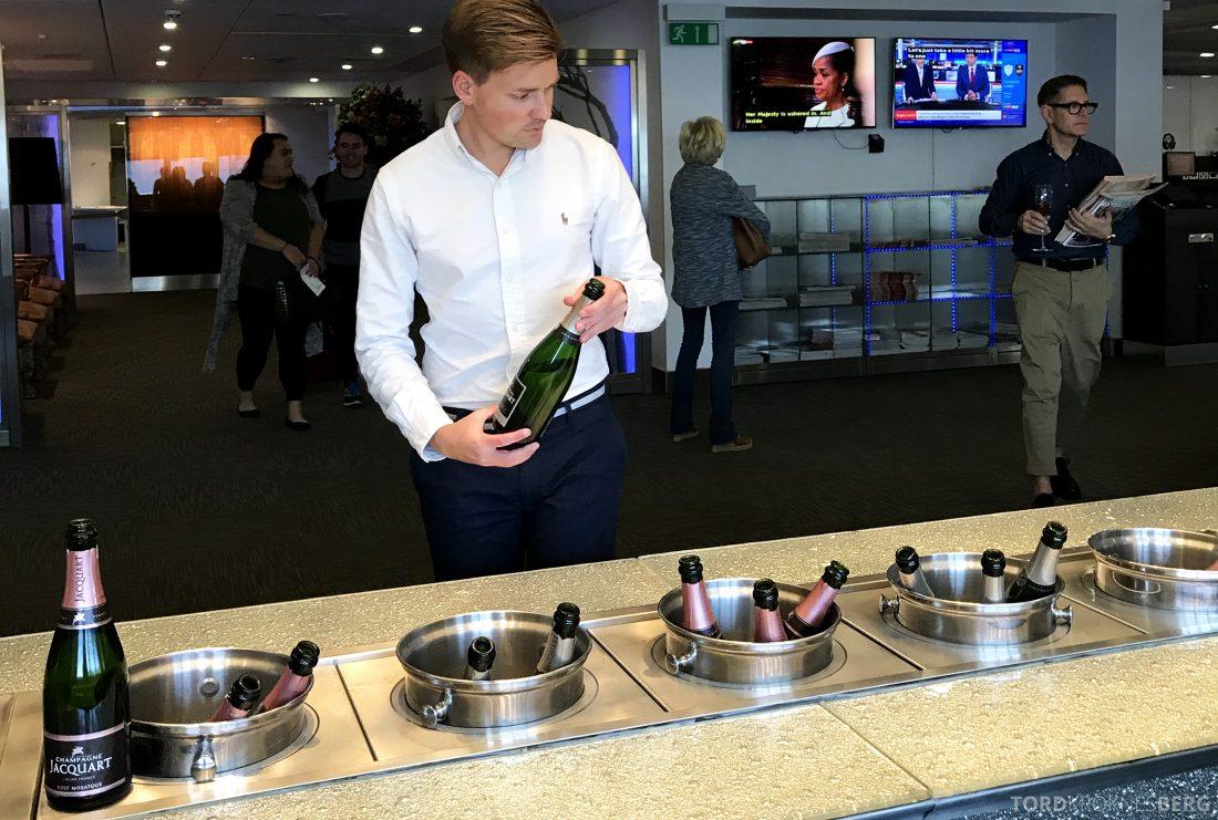 British Airways Galleries First Lounge Heathrow Tord Kroknes Berg champagne